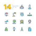 School And Education - Thick Line Icons Set Royalty Free Stock Photography - 87862797
