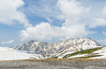 Snow Mountain At Japan Alps Tateyama Kurobe Alpine Route Royalty Free Stock Images - 87877519
