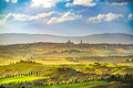 Siena City Skyline, Countryside And Rolling Hills. Tuscany, Ital Stock Photography - 87905592