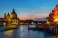 Grand Canal In Venice At Night Stock Photos - 87906403