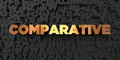 Comparative - Gold Text On Black Background - 3D Rendered Royalty Free Stock Picture Royalty Free Stock Image - 87918926
