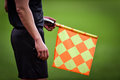 Assistant Referee During Soccer Match Royalty Free Stock Images - 87962059