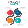 Abstract Colorful Circle Square Business Infographics Elements, Presentation Template Flat Design Vector Illustration For Web Royalty Free Stock Images - 87978469