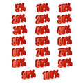 Discount Numbers 3d Vector. Red Sale Percentage Icon Set In 3D Style Isolated On White Background. 10 Percent Off, 15 Off And 20 P Stock Image - 87983301