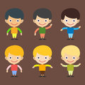 Boy Portrait Fun Happy Young Expression Cute Teenager Cartoon Character And Happyness Little Kid Flat Human Cheerful Joy Royalty Free Stock Image - 87999516
