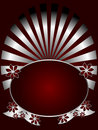 Silver And Deep Red Floral Backround Royalty Free Stock Images - 8800979