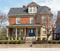 Stately Urban Red Brick House Royalty Free Stock Photography - 88004417