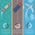 Transportation Top View Infographics Vector Illustration. Transport And Delivery By Land Transport, Sea And Plane Stock Photos - 88046563