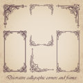 Decorative Calligraphic Corners And Frames - Vector Set Royalty Free Stock Images - 88060549
