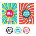 20 Percent Discount Sign Icon. Sale Symbol. Stock Photography - 88070082
