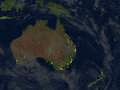Australia And New Zealand At Night On Planet Earth Stock Images - 88070384