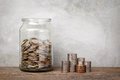 Glass Jar With Coins. Stock Photography - 88092492