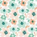 Simple Pale Color Floral Decorative Seamless Pattern Royalty Free Stock Photography - 88106427