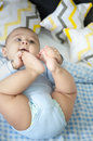 Baby Lying In The Bed Stock Photo - 88133560