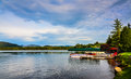 Boat Dock On Lake Placid Stock Images - 88150394