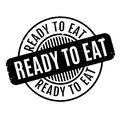 Ready To Eat Rubber Stamp Stock Image - 88155011