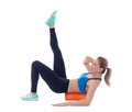 Foam Roller Exercises Royalty Free Stock Photography - 88184427