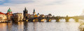 Charles Bridge Karluv Most And Lesser Town Tower, Prague, Czec Royalty Free Stock Images - 88221289