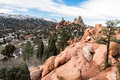 Garden Of The Gods Winter Snow Stock Photography - 88222612