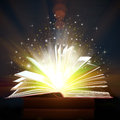 Opened Book With Magic Lights Stock Photography - 88233832