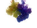 Colors Dropped Into Liquid And Photographed While In Motion. Ink Royalty Free Stock Photography - 88251197