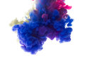 Colors Dropped Into Liquid And Photographed While In Motion. Ink Royalty Free Stock Images - 88253629