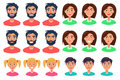 People Expressing Emotions Set Of Icons On White Royalty Free Stock Photography - 88264267