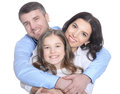 Happy Young Family On A White Background Royalty Free Stock Image - 88265956