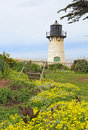 Point Montara Fog Signal And Light Station In Spring Royalty Free Stock Image - 88291456