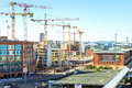 High-rise Cranes Working In Building, Helsinki Royalty Free Stock Photo - 88291565
