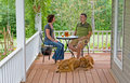 Couple On Porch Stock Image - 8831801