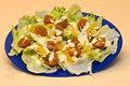 Crisp And Fresh Salad On Plate With Dressing Stock Image - 8836151