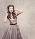 Women Retro Beauty Hairstyle, Fashion Model In Vintage Dress Stock Photography - 88358942