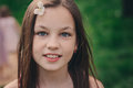 Spring Closeup Outdoor Portrait Of Adorable 11 Years Old Preteen Kid Girl Stock Photos - 88363073