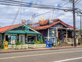 Restaurants And A Shopping Area In Hanalei Stock Image - 88372831