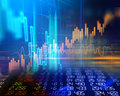 Technical Financial Graph On Technology Abstract Background Royalty Free Stock Image - 88382796