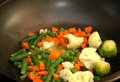 Stir Fry Vegetables In A Wok Pan Stock Photography - 8848902