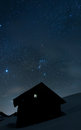 House Under The Stars Stock Image - 88410551