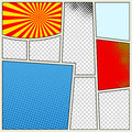 Comics Book Background In Different Colors. Blank Template Background. Pop-art Style Royalty Free Stock Image - 88417946