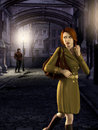 Woman Night Walk Stalker Royalty Free Stock Images - 88420149