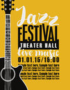 Poster For Jazz Festival With A Guitar Royalty Free Stock Photo - 88432155