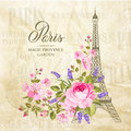 Eiffel Tower Card. Stock Images - 88438504