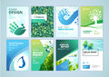 Natural And Organic  Products Brochure Cover Design And Flyer Layout Templates Collection Royalty Free Stock Image - 88446566