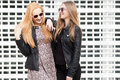 Two Gorgeous Girl Friends Having Fun Outside In The City Stock Image - 88448241
