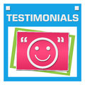 Testimonials Colorful Squares Inside Stock Photography - 88474402