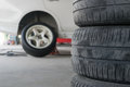 Car Tire Change Tires Stock Images - 88492994