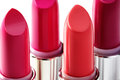 Beautiful Set Of Lipsticks In Red Colors. Beauty Cosmetic Collection. Fashion Trends In Cosmetics With Bright Lips Stock Photo - 88496160