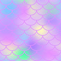Pink Fish Scale  Seamless Pattern. Magic Mermaid Texture Or Background Square Swatch. Stock Photography - 88504592