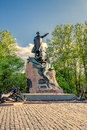 Monument To Russian Vice-admiral Stepan Makarov On Yakornaya Ploschad Anchor Square In Kronstadt, Russia Royalty Free Stock Photo - 88505745