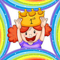 Girl Wearing Golden Crown Royalty Free Stock Photography - 88548327